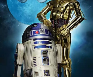 C-3PO, r2-d2, and star wars image