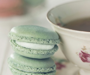 dessert, macaroons, and food image