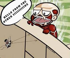 anime, attack on titan, and funny image