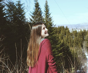 forest, girl, and lové image