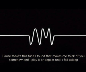 arctic monkeys, black and white, and feelings image