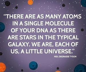 atoms, DNA, and galaxy image