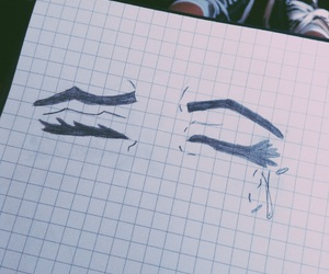 crying, notebook, and my drawing image