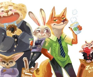 finnick, zootopia, and nick wilde image