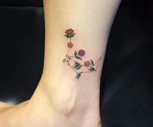 fleur, mignon, and tatoo image