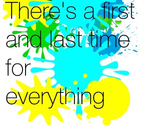 cyan, paint splatter, and quote image