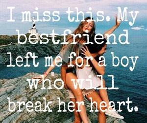 best friend, broken heart, and friendship image