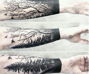 tattoo, tree, and nature image