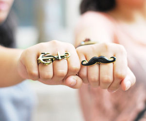 anchor, fashion, and moustache image