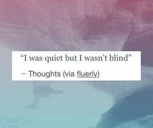 quiet, blind, and quote image