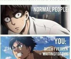 attack on titan, anime, and funny image
