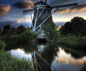 amsterdam, netherlands, and windmill image