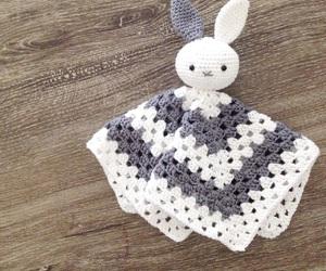 baby, blanket, and bunny image