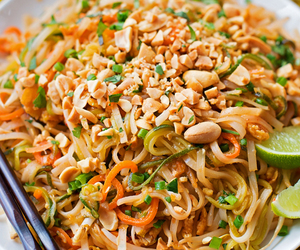 food, noodles, and zucchini image