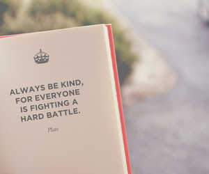 be, kind, and book image