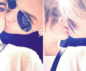 kiss, lily collins, and lovely image