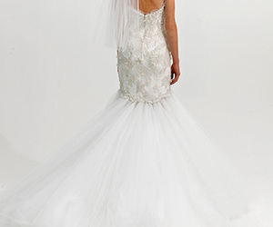 bride, dress, and Marchesa image
