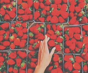 strawberry, berries, and red image