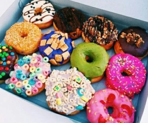 color, snaks, and donut image