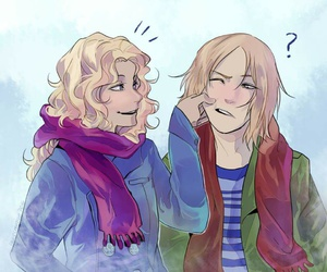 annabeth chase, magnus chase, and percy jackson image