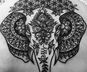 art, tattoo, and elephant image