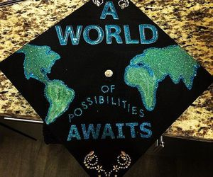 cap, decor, and graduation image