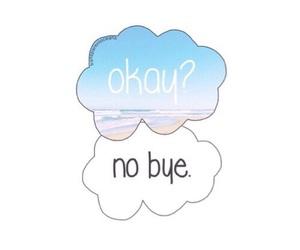okay, bye, and no image