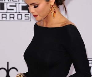selena gomez, black, and dress image