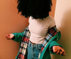 Afro, outfit, and hair image