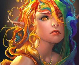 art, rainbow, and fairy image