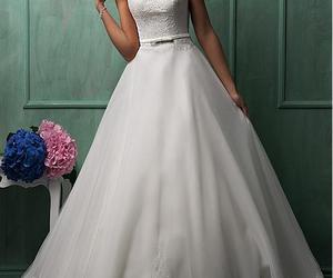 modern wedding dress, fashion wedding dress, and gorgeous wedding dress image