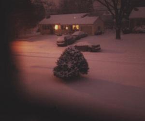 winter, snow, and night image