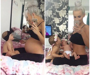 adorable, baby, and mom image