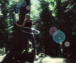 circles, forest, and nature image