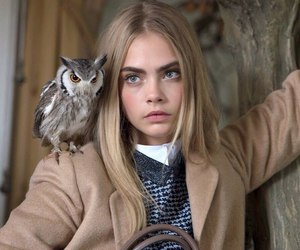 model, cara delevingne, and owl image