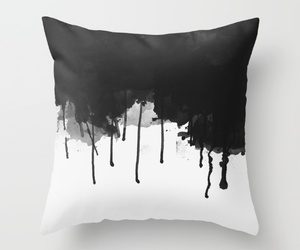 black and white, decor, and paint image