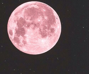 moon, pink, and night image