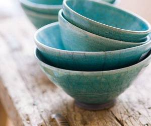 blue, porcelain, and rustic image