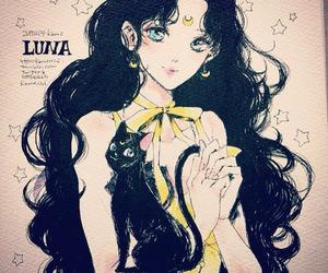 black cat, girl power, and luna image