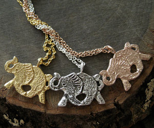 elephant, jewelry, and gold image