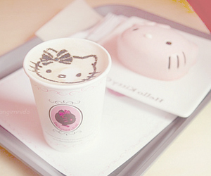 hello kitty, coffee, and kawaii image