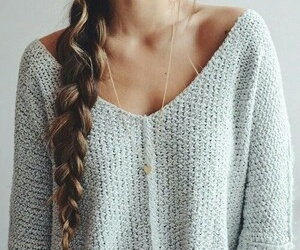 beauty, braids, and brunette image