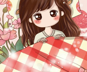 girl, wallpaper, and cute image