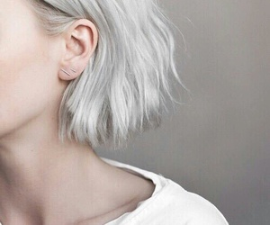 fashion, short hair, and white hair image