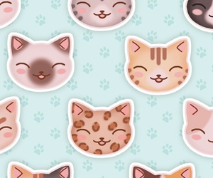 cartoon, cats, and illustration image