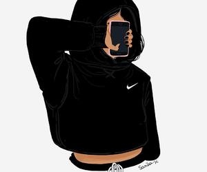 nike, drawing, and tumblr image
