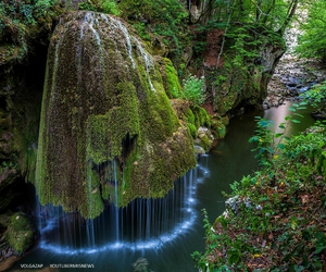 nature, waterfall, and romania image