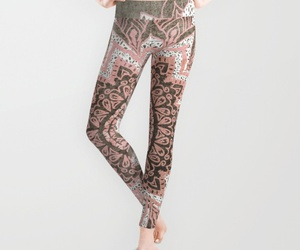 bohemian, leggins, and chic image