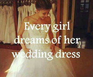 girl, wedding, and dress image