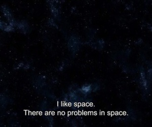 space, quotes, and problem image